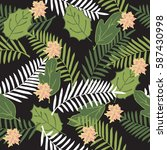 tropical seamless pattern with... | Shutterstock .eps vector #587430998