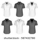 men's short sleeve shirts with...   Shutterstock .eps vector #587432780