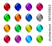 marquis shaped gemstone... | Shutterstock .eps vector #587435813