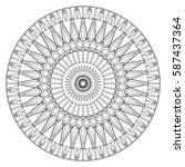 ancient mandala coloring page... | Shutterstock .eps vector #587437364