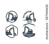 excavation logo set | Shutterstock .eps vector #587444630
