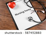 nursing home contract on... | Shutterstock . vector #587452883