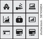 set of 9  statistic icons....