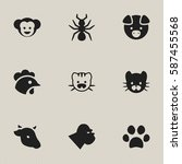 set of 9  nature icons....