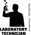 laboratory technician silhouette | Shutterstock .eps vector #587466290