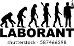 evolution with german job title ...   Shutterstock .eps vector #587466398