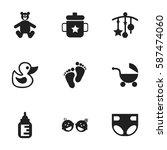 set of 9 editable kid icons....