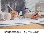 close up man working of... | Shutterstock . vector #587482334