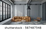 industrial interior design and... | Shutterstock . vector #587487548