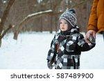 Little Cute Boy Walks With My...
