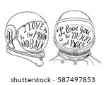 i love you to the moon and back.... | Shutterstock .eps vector #587497853