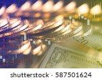 finance background with money... | Shutterstock . vector #587501624