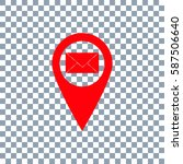 location mail icon vector on...