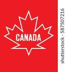vector canadian maple leaf... | Shutterstock .eps vector #587507216