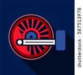 locomotive wheel icon. flat... | Shutterstock .eps vector #587513978