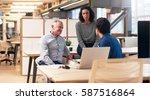 office colleagues having a...   Shutterstock . vector #587516864