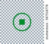 pause button vector icon.... | Shutterstock .eps vector #587518778