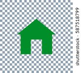 home icon. transporent... | Shutterstock .eps vector #587518799