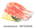 fish salmon  | Shutterstock . vector #587520506