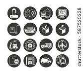shipping and logistics icon set ... | Shutterstock .eps vector #587530328