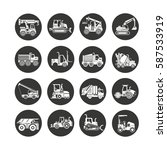 construction equipment icon set ... | Shutterstock .eps vector #587533919
