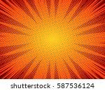 halftone texture comic book... | Shutterstock .eps vector #587536124