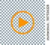 play button icon on transparent ... | Shutterstock .eps vector #587536328