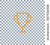 trophy vector illustration icon ... | Shutterstock .eps vector #587536508
