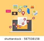 email marketing. social media.... | Shutterstock .eps vector #587538158