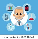medical doctor equipment... | Shutterstock .eps vector #587540564