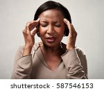 headache   Shutterstock . vector #587546153