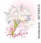 happy mothers day greeting card ... | Shutterstock .eps vector #587548514