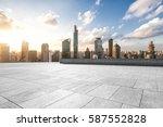 modern office buildings in... | Shutterstock . vector #587552828