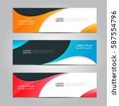 vector design banner background. | Shutterstock .eps vector #587554796