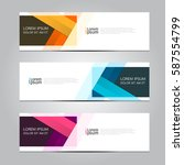 vector design banner background. | Shutterstock .eps vector #587554799