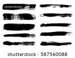 set of grunge brushes.vector...   Shutterstock .eps vector #587560088