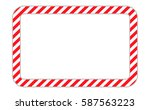 border with line red and white... | Shutterstock .eps vector #587563223