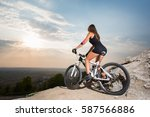 young fit female starting to...   Shutterstock . vector #587566886