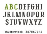 serif font in the style of... | Shutterstock .eps vector #587567843