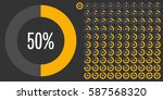 set of circle percentage... | Shutterstock .eps vector #587568320