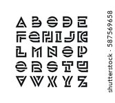 bold broken latin font ... | Shutterstock .eps vector #587569658