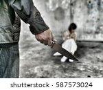 concept dark   crimenal action... | Shutterstock . vector #587573024