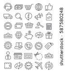 shopping line icons | Shutterstock .eps vector #587580248
