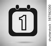 calendar icon   flat vector... | Shutterstock .eps vector #587582300