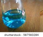 toxic substances  dark blue... | Shutterstock . vector #587583284