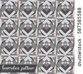 pattern of geometric shapes.... | Shutterstock .eps vector #587585588