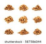 pile of sugar coated peanuts... | Shutterstock . vector #587586044