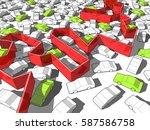 3d illustration of green... | Shutterstock .eps vector #587586758
