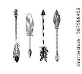decorative tribal arrows... | Shutterstock .eps vector #587588453