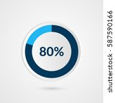 80 percent blue grey and white... | Shutterstock .eps vector #587590166